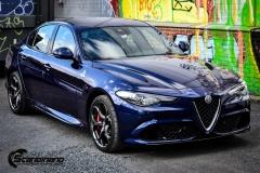 Alfa Romeo Giulia helfoliert med lakkbeskyttelsesfilm fra STEK-3