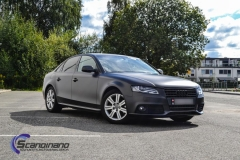 Audi A4 foliert i matt black diamand by pwf