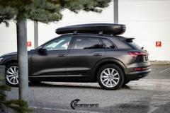 Audi e-tron helfoliert i Matt Diamond Black fra PWF-16