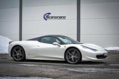 Ferrari foliert i Scandinano Satin Pearl White_