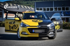Heja BVB  hyundai foliert yellow and black Scandinano_