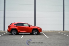 Lexus foliert Cherry Red metallic