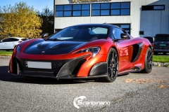 McLaren foliert med Ruby Red Scandinano_