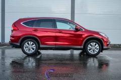 Ny-Honda-CRV-foliert-i-burgunderrød-krom-Scandinano_