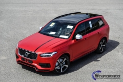 Ny volvo xc90 foliert i matt rod chrom-7
