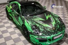 Porsche 911 Helfoliert med print folie.-