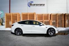 Tesla Model 3 foliert med lakkbeskyttelsesfilm-5
