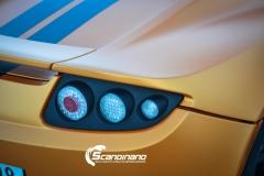 Tesla Roadstar foliert i orange Scandinano_