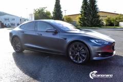 Tesla S foliert  ned matt lakkbeskyttelsesfilm