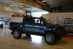 Toyota hilux foliert I matt andonized blue pwf