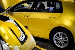Volkswagen e-Golf foliert med Matt Sunflower fra PWF-7