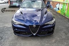 Alfa Romeo Giulia helfoliert med lakkbeskyttelsesfilm fra STEK-10