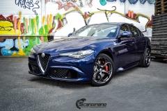 Alfa Romeo Giulia helfoliert med lakkbeskyttelsesfilm fra STEK-15