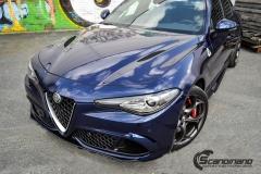 Alfa Romeo Giulia helfoliert med lakkbeskyttelsesfilm fra STEK-16