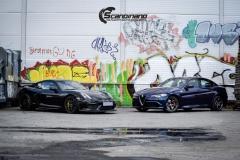 Alfa Romeo Giulia helfoliert med lakkbeskyttelsesfilm fra STEK-21