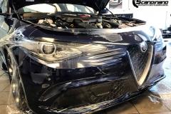 Alfa Romeo Giulia helfoliert med lakkbeskyttelsesfilm fra STEK-24