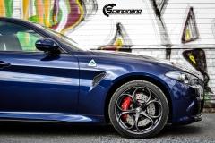 Alfa Romeo Giulia helfoliert med lakkbeskyttelsesfilm fra STEK-4