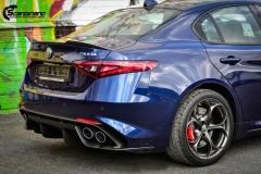 Alfa Romeo Giulia helfoliert med lakkbeskyttelsesfilm fra STEK-6