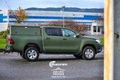 Arctic truck foliert med military green