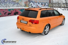 Audi A 4 helfoliert med Matt Sunrise Metallic ,Solfil, Chrome delete-2