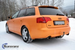 Audi A 4 helfoliert med Matt Sunrise Metallic ,Solfil, Chrome delete-3