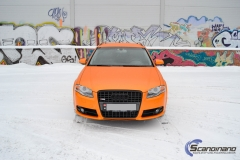 Audi A 4 helfoliert med Matt Sunrise Metallic ,Solfil, Chrome delete-4