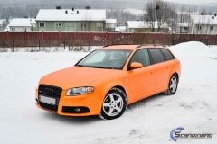 Audi A 4 helfoliert med Matt Sunrise Metallic ,Solfil, Chrome delete-5