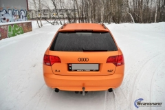 Audi A 4 helfoliert med Matt Sunrise Metallic ,Solfil, Chrome delete-6