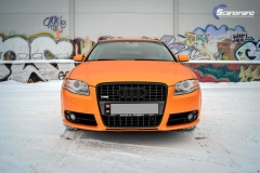 Audi A 4 helfoliert med Matt Sunrise Metallic ,Solfil, Chrome delete-7