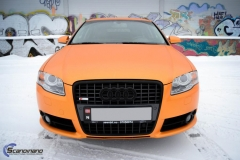 Audi A 4 helfoliert med Matt Sunrise Metallic ,Solfil, Chrome delete-8