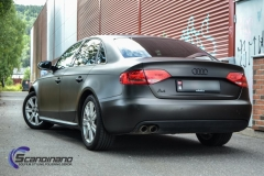 Audi A4 foliert i matt black diamand by pwf-12