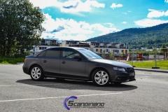Audi A4 foliert i matt black diamand by pwf-2