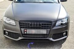 Audi A4 foliert i matt black diamand by pwf-4