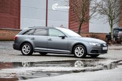 Audi A4 helfoliert i 970 Charcoal Metallic Matt fra Oracal