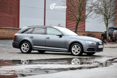 Audi A4 helfoliert i 970 Charcoal Metallic Matt fra Oracal-2