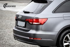 Audi A4 helfoliert i 970 Charcoal Metallic Matt fra Oracal-5