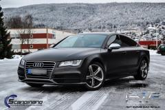 Audi A7 foliert med black diamant metallic