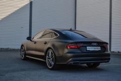 Audi A7 foliert med matt diamond black fra pwf