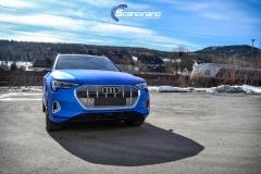 Audi e-tron foliert med Matt Anodized Blue 2.0-17