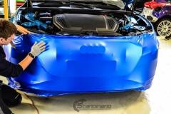 Audi e-tron foliert med Matt Anodized Blue 2.0-2