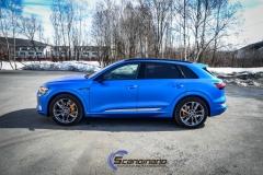 Audi e-tron foliert med Matt Anodized Blue 2.0-22