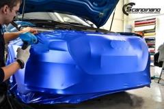 Audi e-tron foliert med Matt Anodized Blue 2.0-3