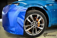 Audi e-tron foliert med Matt Anodized Blue 2.0-4