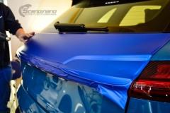 Audi e-tron foliert med Matt Anodized Blue 2.0-6