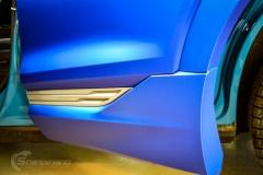 Audi e-tron foliert med Matt Anodized Blue 2.0-9