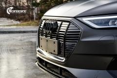 Audi e-tron helfoliert i Matt Diamond Black fra PWF-9