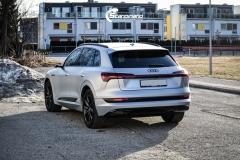 Audi e-tron helfoliert i MATT lakkbeskyttelsesfilm fra STEK-0149