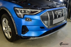 Audi e-tron helfoliert med Satin Perfect Blue fra 3M-6