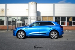 Audi e-tron helfoliert med Satin Perfect Blue fra 3M-7