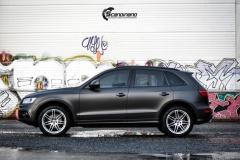 Audi Q5 helfoliert i Matt Diamond Black fra PWF-14